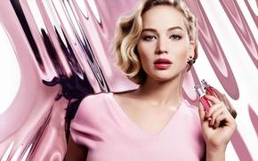Картинка фон, модель, макияж, реклама, актриса, прическа, блондинка, Jennifer Lawrence, парфюм, Дженнифер Лоуренс