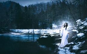 Картинка девушка, Shelby Robinson, Winter Fawn