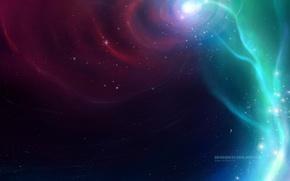 Картинка stars, robin de blanche, космос, вселенная, fog, вихрь, звезды, туманность