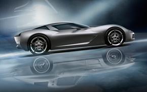 Картинка отражение, Auto, Chevrolet Corvete