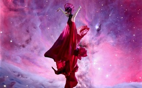 Картинка девушка, туманность, фон, брюнетка, Кэти Перри, Katy Perry, певица, girl, singer, brunette