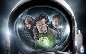 Картинка взгляд, девушка, отражение, актриса, лица, актер, мужчина, сериал, пиджак, Doctor Who, астронавт, Доктор Кто, тардис, …