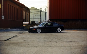 Картинка BMW, wheels, black, stance, E36