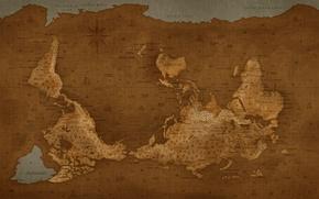 Картинка Карта, Мир, Перевернутый