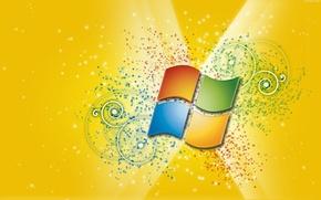 Картинка узоры, Windows, желтый фон
