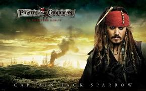 Обои море, пираты карибского моря, джек воробей