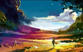 Картинка landscape, nature, art, artwork