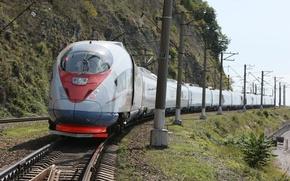 Картинка скорость, Железная дорога, Сапсан