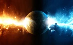 Картинка энергия, космос, планета, галактика