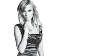 Картинка актриса, черно-белое, Reese Witherspoon, Риз Уизерспун