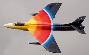 Картинка истребитель, кабина, бомбардировщик, Hawker Hunter