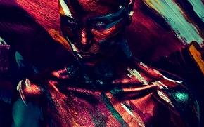 Картинка взгляд, краска, Девушка, Alex Buts