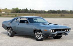 Картинка 1971, мускул кар, muscle car, плимут, road runner, plymouth