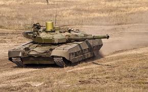 Картинка степь, армия, Танк, Украина, учения, оплот, Т84У