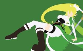 Картинка green, sword, game, anime, fairy, beautiful, pretty, blonde, asian, cute, manga, pretty girl, japanese, Sword …