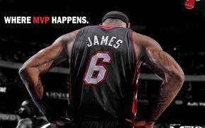 Картинка James, NBA, MVP, Miami Heat