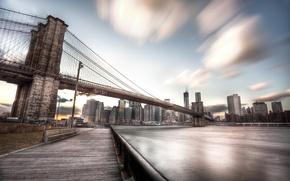 Обои осень, город, небоскребы, USA, америка, сша, New York City, нью йорк