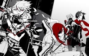 Картинка оружие, аниме, арт, парни, Dogs: Bullets & Carnage