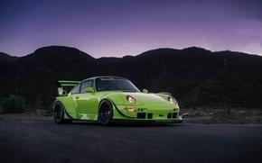 Картинка Porsche, Classic, Black, with, 300, 993, RWB, Satin, HRE