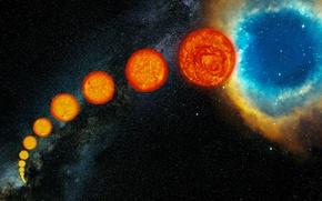 Картинка туманность, звезда, Солнце, планетарная