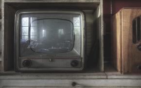Картинка макро, фон, телевизор