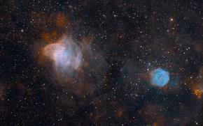 Обои туманности, звезды, космос, NGC 371, NGC 346