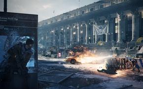 Картинка город, игра, перестрелка, Ubisoft Entertainment, Tom Clancy's The Division, The Division