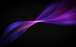 Картинка линии, абстракция, фон, обои, черный, графика, цвет, Фиолетовый