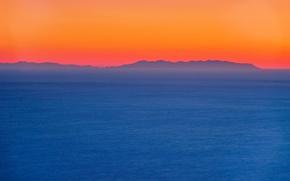 Картинка twilight, sea, ocean, sunset, seascape, island, dusk
