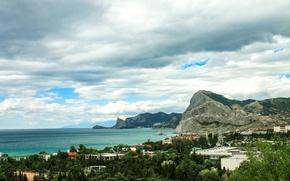 Картинка Море, Горы, Пейзаж, Крым, Судак