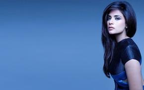 Картинка девушка, актриса, красавица, girl, sexy, eyes, smile, beautiful, model, pretty, beauty, lips, face, hair, brunette, ...