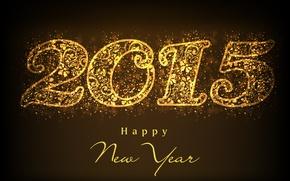 Картинка золото, golden, New Year, Happy, С Новым Годом, 2015