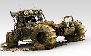 Картинка земля, грязь, колёса, мощность, Багги, buggy