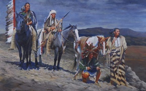 Картинка картина, живопись, painting, John Fawcett, 1843, A Harbinger