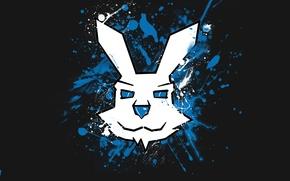 Картинка брызги, граффити, заяц, логотип, кролик, bunny, AlwH