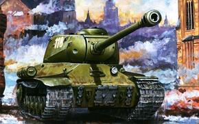 Картинка война, танк, ис-2, боевая техника