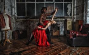 Картинка фон, комната, танец