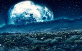 Обои обоя, земля, пустыня, свет