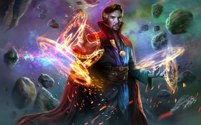 Обои benedict cumberbatch, фантастика, marvel comics, Doctor Strange, art