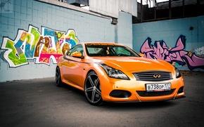 Картинка Оранжевый, Граффити, Infiniti, Orange, Sedan, G37