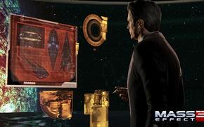 "Картинка Солнце, сигарета, база, Призрак, Mass Effect 3, Жнецы, Illusive man, Данные, лидер ""Цербера"", Джек Харпер"
