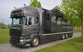 Картинка Scania, дом на колёсах, GIGASPACE