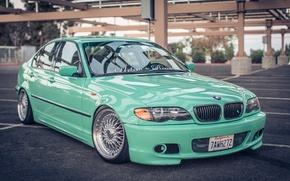 Картинка BMW, БМВ, тройка, Диски, E46, 3 series, Stance, 325i