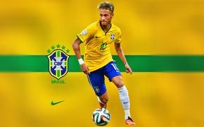 Обои champion, Brasil, soccer, Neymar, men