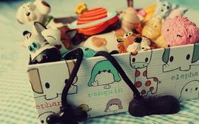 Картинка макро, детство, коробка, отдых, игра, игрушки, ящик, box, toys