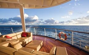 Картинка море, пейзаж, отдых, вид, яхта, горизонт, relax, люкс