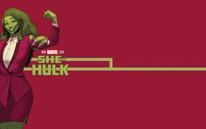 Картинка белый, фиолетовый, зеленый, волосы, костюм, MARVEL, Женщина-Халк, She-hulk, Jennifer Walters, Дженнифер Уолтерс