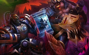 Картинка warcraft, Thrall, Heroes of the Storm, Azmodan