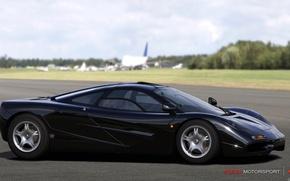 Картинка черный, McLaren, трек, gtr, motorsport 4, forza