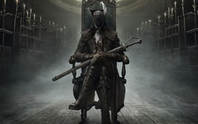 Картинка Оружие, Плащ, Охотник, From Software, Bloodborne, Bloodborne: The Old Hunters, The Old Hunters